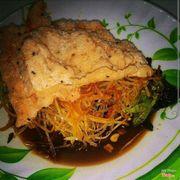 Gỏi khô bò đen xé ngon cực, loại bánh tráng dừa.