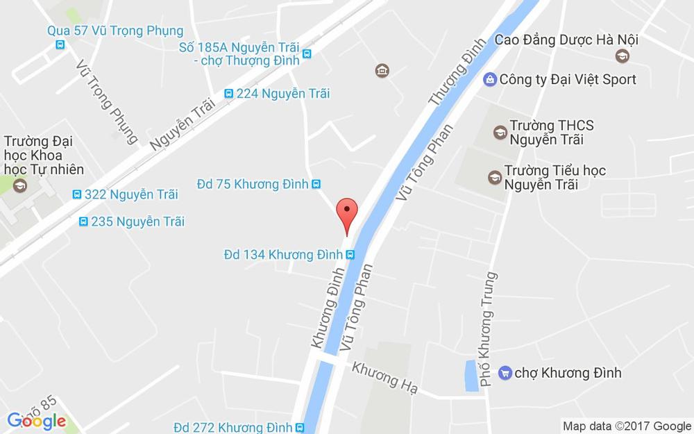 Vị trí bản đồ 128 Khương Đình   Quận Thanh Xuân Hà Nội