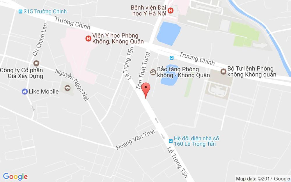 Vị trí bản đồ 86 Lê Trọng Tấn  Quận Thanh Xuân Hà Nội