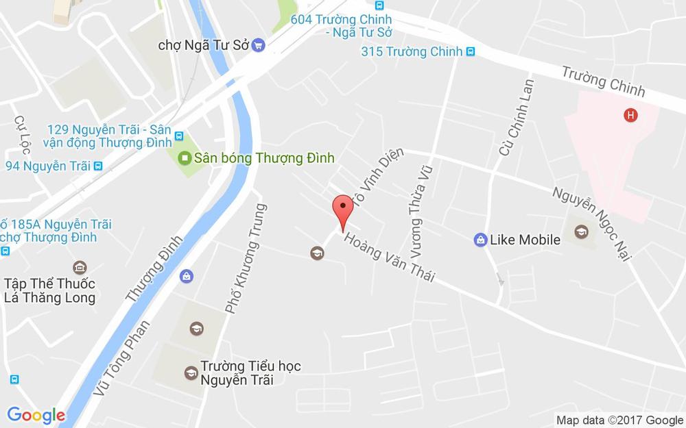 Vị trí bản đồ 283 Hoàng Văn Thái Quận Thanh Xuân Hà Nội