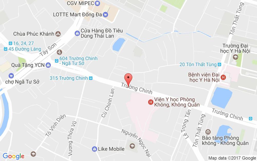 Vị trí bản đồ 265 Trường Chinh Quận Thanh Xuân Hà Nội