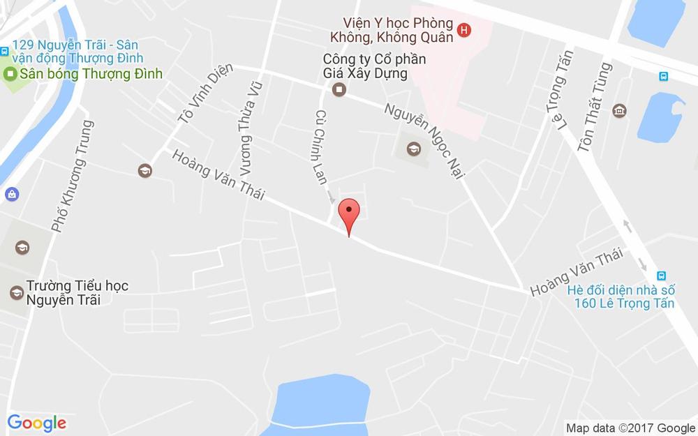 Vị trí bản đồ 129 Hoàng Văn Thái Quận Thanh Xuân Hà Nội