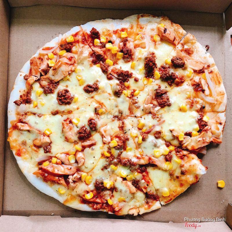 Mình gọi pizza hải sản nhưng đây hnhu là gà bò?