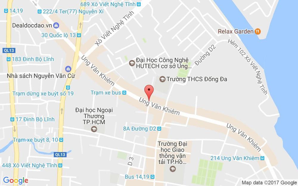 Vị trí bản đồ 63V Ung Văn Khiêm, P.25 Quận Bình Thạnh TP. HCM