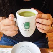 Green tea latte hot