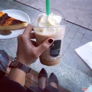 Ice-blended Coffee and Caramel