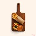 Fried haloumi burger
