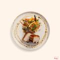 Crispy roast pork belly with glass noodle salad & nahm jim dressing