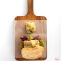 Toasted steak sandwich with mushroom, caramelised onion on Turkish bread