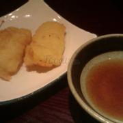 Squid tempura & dashi