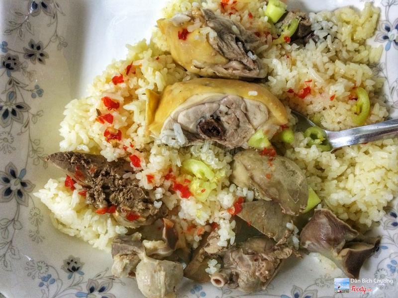 Cơm gà Hải Nam & lòng gà