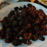 Ốc dừa rang muối ớt