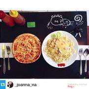 pizza và mỳ spaghetti creamy chicken passion