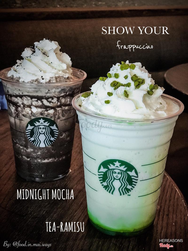 Midnight Mocha Frappucino và Tea-RAMISU Frappucino