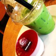 Matcha trà xanh lần trc mk gọi cong có cả kem phủ trên cơ. Hôm trc đi thì uống chán hơn hẳn :((( mouse khá ngon nhưng giá chát quá ))))