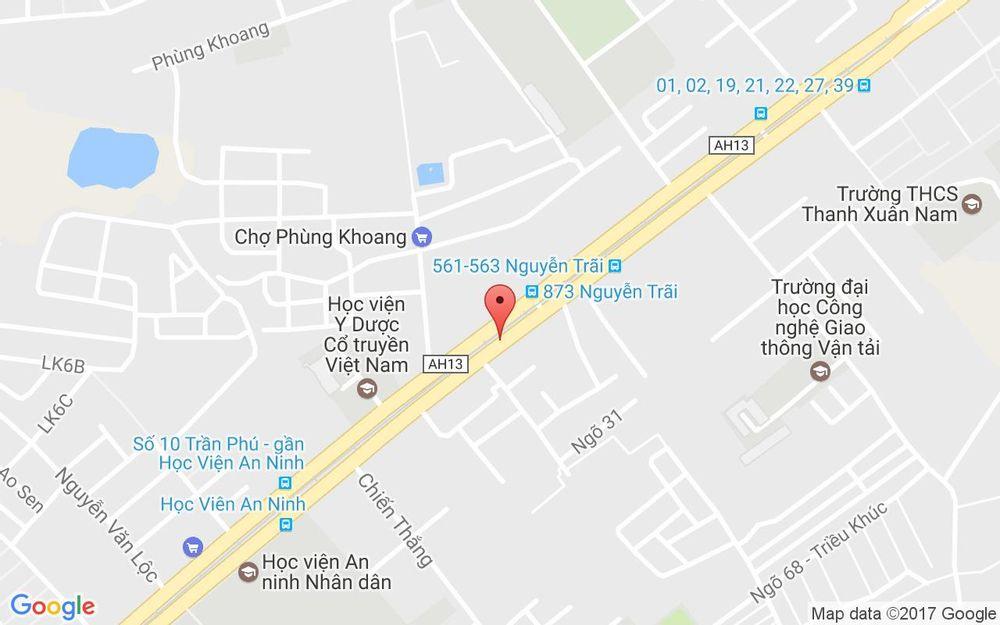 Vị trí bản đồ 580 Nguyễn Trãi Quận Thanh Xuân Hà Nội