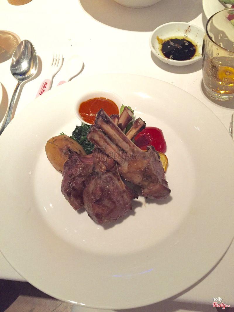 Lamb chops-medium well