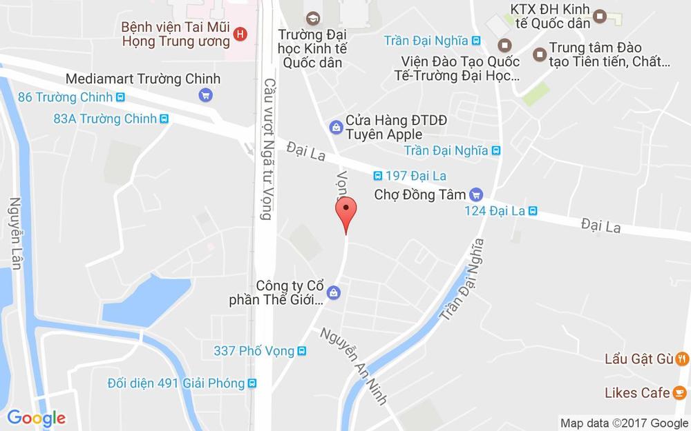 Vị trí bản đồ 146 Phố Vọng, P. Phương Liệt Quận Thanh Xuân Hà Nội