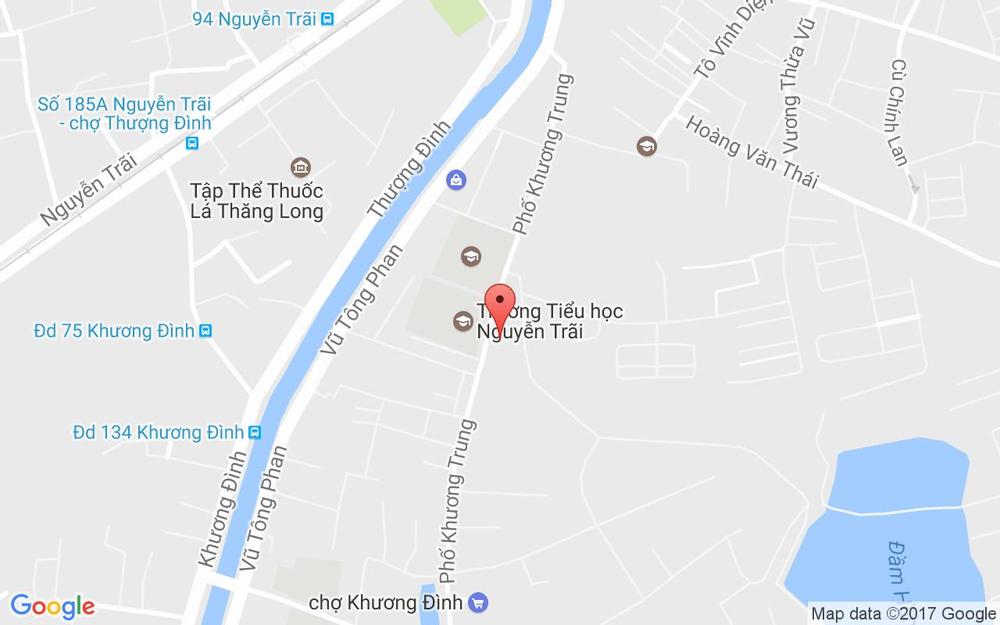 Vị trí bản đồ 157 Khương Trung Quận Thanh Xuân Hà Nội