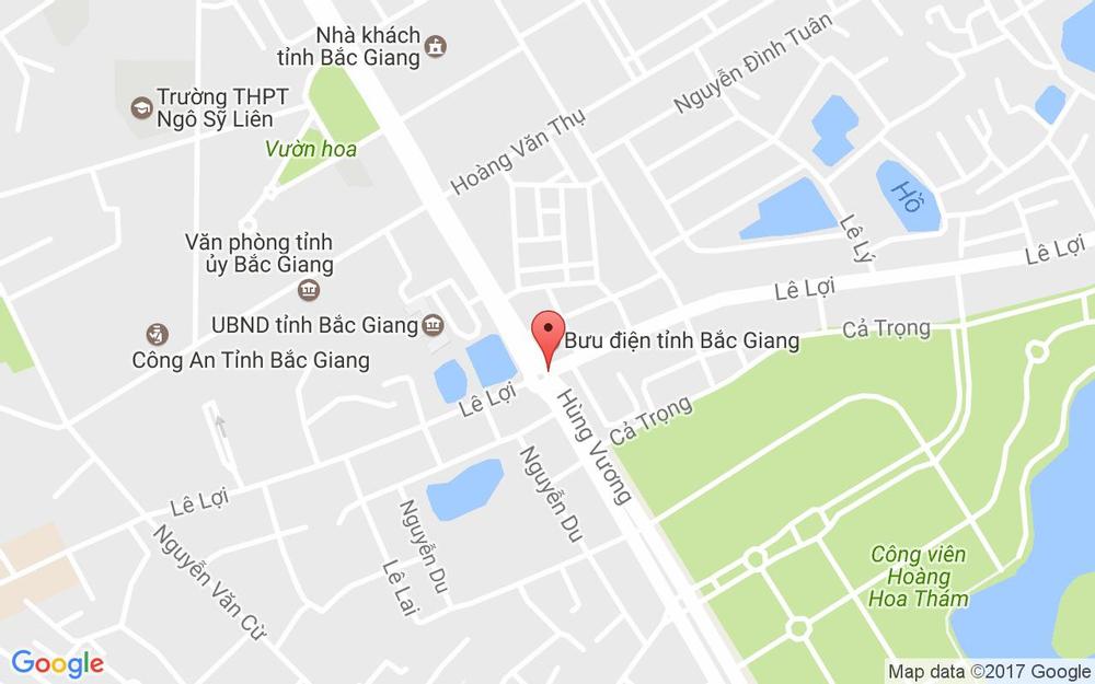 Vị trí bản đồ Khu đài phun nước đường Hùng Vương Tp. Bắc Giang Bắc Giang