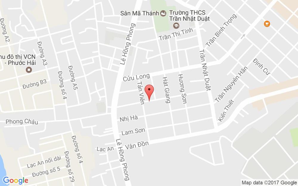 Vị trí bản đồ 37B Hồng Lĩnh Tp. Nha Trang Khánh Hoà