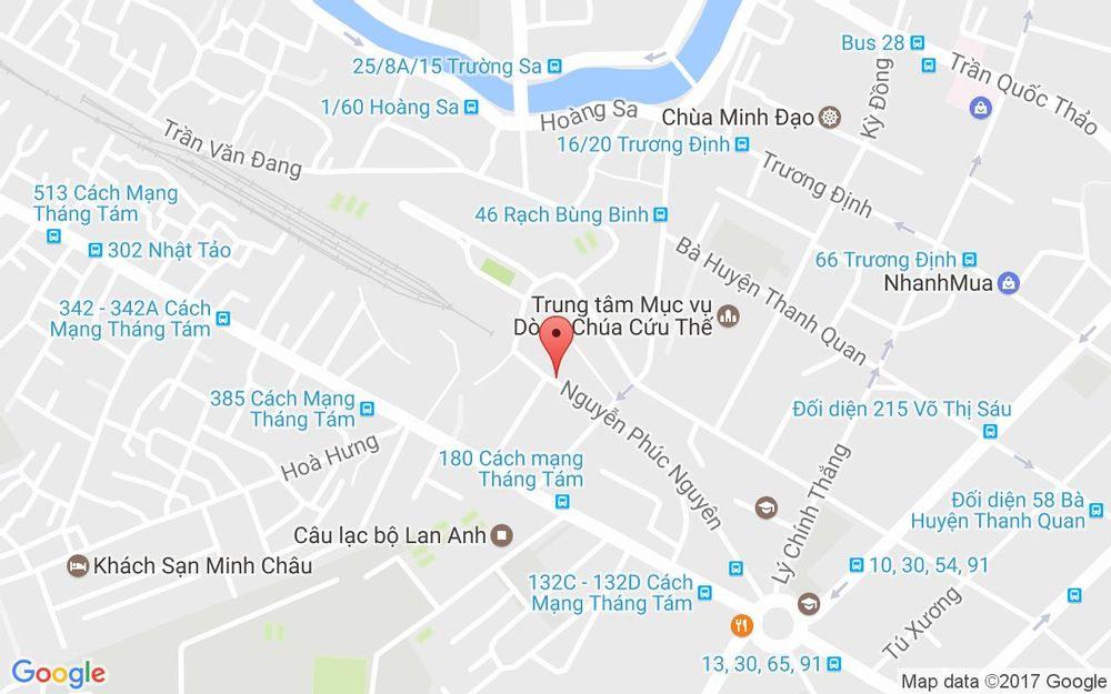 Vị trí bản đồ 167 Nguyễn Phúc Nguyên Quận 3 TP. HCM