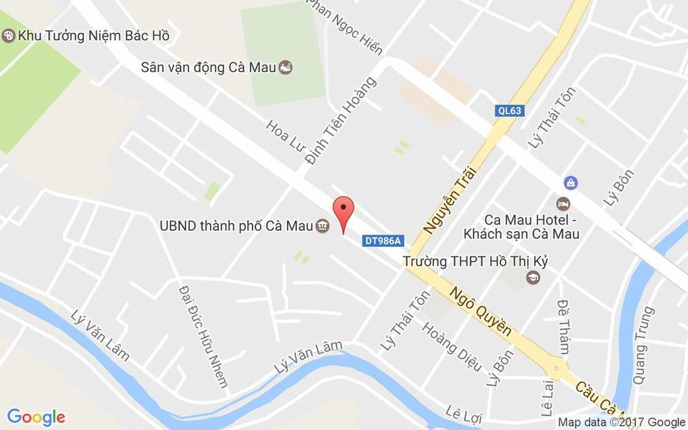 Vị trí bản đồ Khu Tưởng Niệm Chủ Tịch Hồ Chí Minh ở Cà Mau