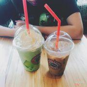 Matcha trà xanh và cà phê nâu đá