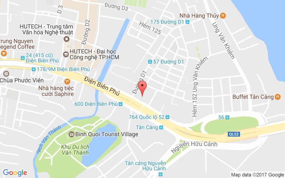 Vị trí bản đồ Tầng 5 Pearl Plaza, 561A Điện Biên Phủ, P. 25 Quận Bình Thạnh TP. HCM