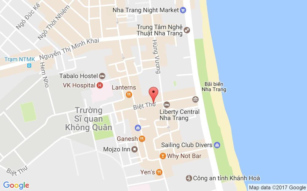 Vị trí bản đồ 7 - 9 Biệt Thự Tp. Nha Trang Khánh Hoà