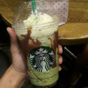 Double chocolate green tae frappuccino