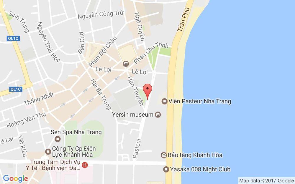 Vị trí bản đồ 9 Pasteur Tp. Nha Trang Khánh Hoà
