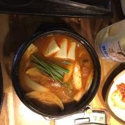 Canh kim chi đậu hủ non ăn cùng cơm trắng