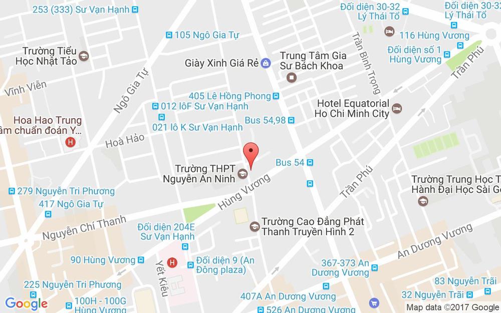 Vị trí bản đồ 2E Trần Nhân Tôn, P. 2 Quận 5 TP. HCM