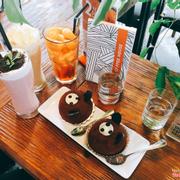 Trà đào cam sả+Strawberry Smoothie+Ice Blended+Bánh gấu