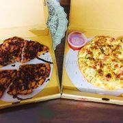 Pizza kat + bánh chuối socola