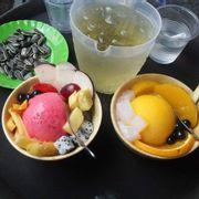 kem trái cây và kem táo