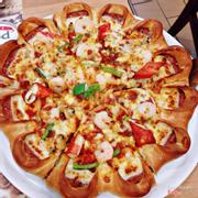 pizza seafood deluxe them viền xúc xích phômai