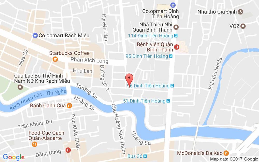 Vị trí bản đồ 15K Vũ Huy Tấn, P. 3 Quận Bình Thạnh TP. HCM