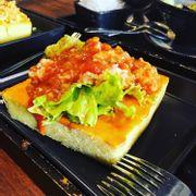 bánh toast chà bông trứng muối