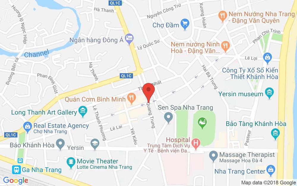 Vị trí bản đồ 6 Quang Trung, P. Vạn Thắng Tp. Nha Trang Khánh Hoà