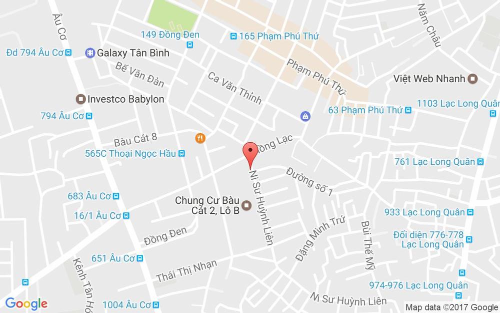 Vị trí bản đồ Chung Cư Bàu Cát 2 ( Lô A) đường Vườn Lan Quận Tân Bình TP. HCM