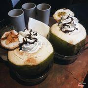 Sinh tố kem quả dừa