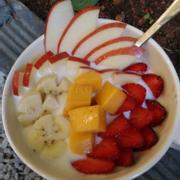 trái cây dầm sữa chua