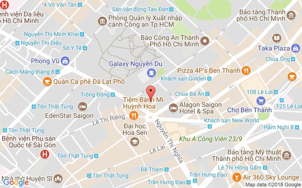 Vị trí bản đồ 20 Nguyễn Văn Giai, P. Đa Kao Quận 1 TP. HCM