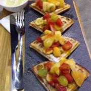 Waffle tutti frutti