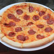 Salamino picante pizza