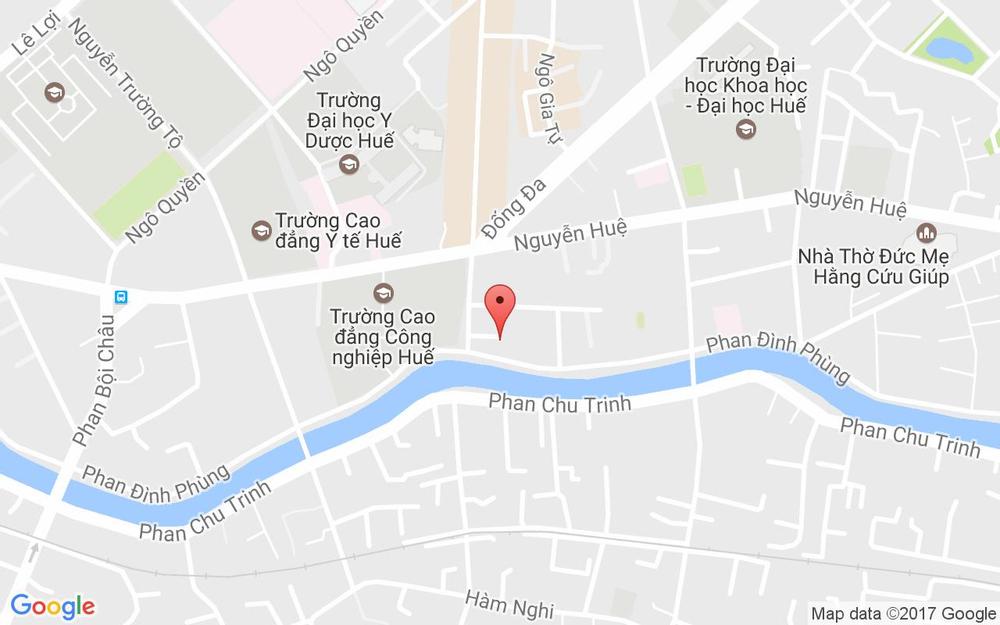 Vị trí bản đồ 75D Phan Đình Phùng Tp. Huế Huế