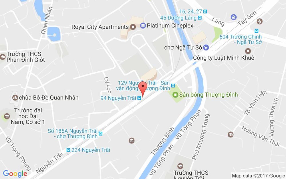 Vị trí bản đồ Nguyễn Trãi (Gần Royal City) Quận Thanh Xuân Hà Nội