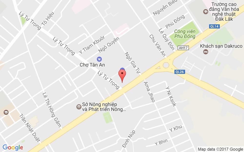 Vị trí bản đồ TiNiWorld - CoopMart Buôn Ma Thuột ở Đắk Lắk